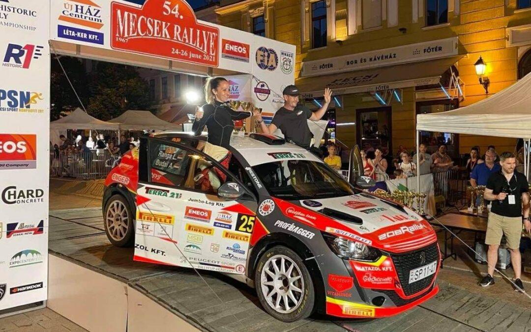 Budai Marcsi a Ranga Rally Teamben az 54. Mecsek Rallyn